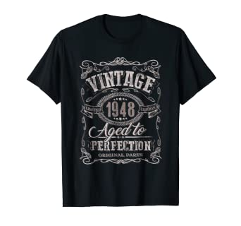 030750818 Image Unavailable. Image not available for. Color: 71st Birthday gift shirt  Vintage dude 1948 71 year old shirt