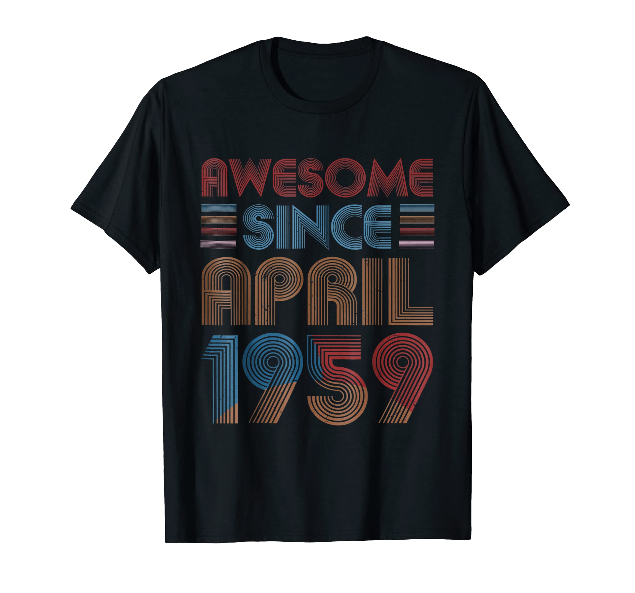 Amazon APRIL 1959 T Shirt 60 Years Old 60th Birthday Decorations Clothing