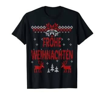 T Shirt Weihnachten.Amazon Com Frohe Weihnachten German Merry Christmas Gift Idea T