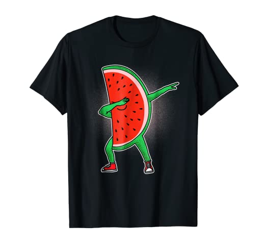 ca423693b Image Unavailable. Image not available for. Color: Funny Dabbing Watermelon  Dab Shirt