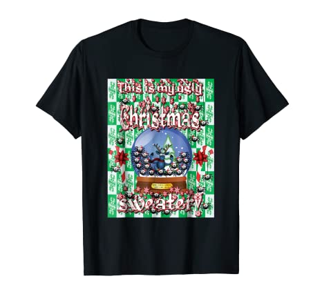 Amazoncom Funny 12 Days Of Christmas Ugly Sweater Tee Sleigh Bells