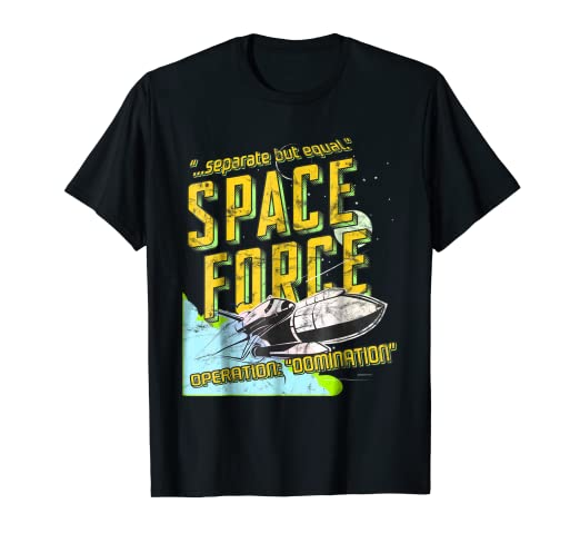 c2c29c039 Image Unavailable. Image not available for. Color: Space Force T-shirt,  Vintage Look, Separate But Equal