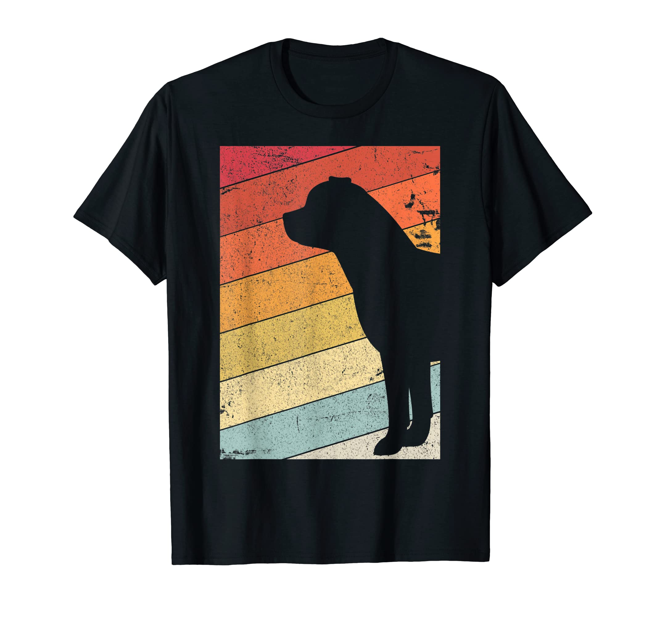 Rottweiler Shirt. Retro Style T-Shirt-Men's T-Shirt-Black