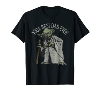 bc03c4e83 Amazon.com: Star Wars Yoda Best Dad Ever Graphic T-Shirt: Clothing
