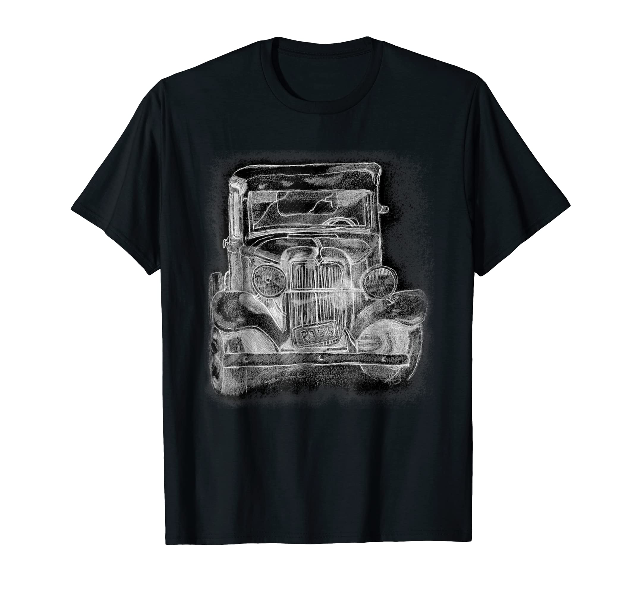 Amazon com old vintage hot rod truck pencil sketch hand drawing t shirt clothing