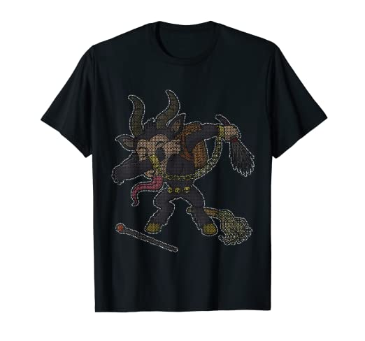 cafeb23e31 Image Unavailable. Image not available for. Color  Dabbing Krampus Ugly  Christmas Sweater ...