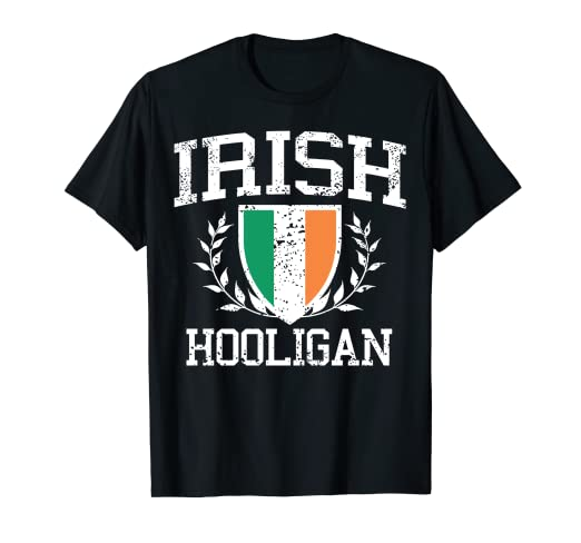 d8b2718d7 Image Unavailable. Image not available for. Color: IRISH Hooligan T-Shirt.  Roll over image to zoom in. St patrick day shirts