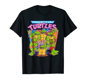 c7278cac6 Amazon.com: Teenage Mutant Ninja Turtles Pizza & Smiles T-Shirt ...