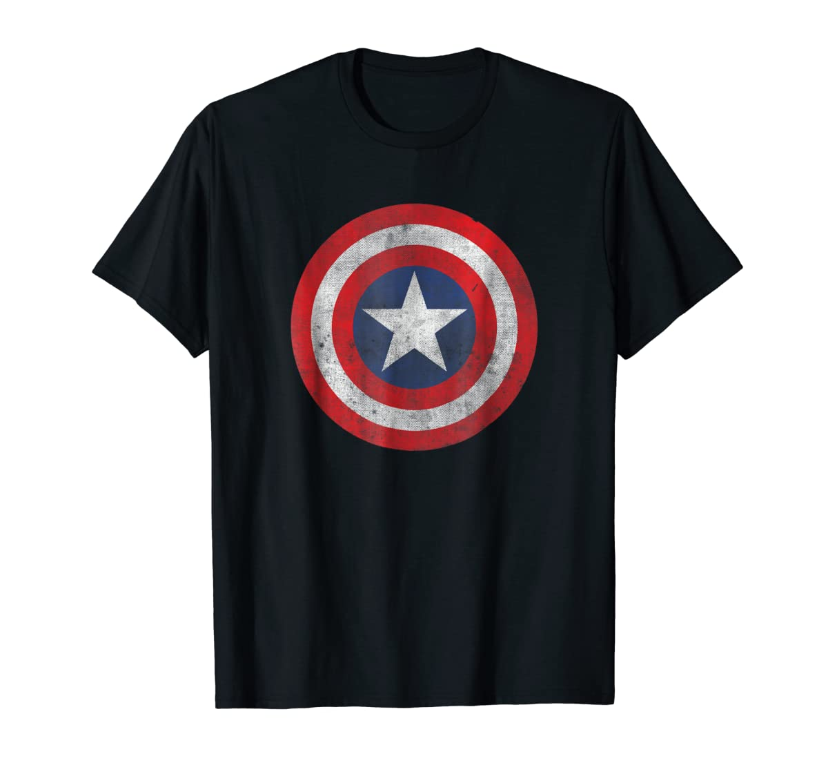 Marvel Captain America Classic Shield Graphic T-Shirt-Men's T-Shirt-Black