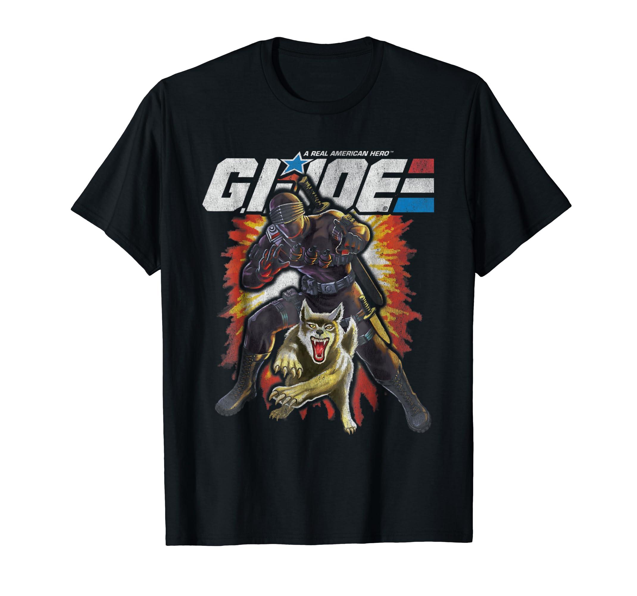 G.I. Joe Militia Ninja & Wolf T-Shirt-Men's T-Shirt-Black