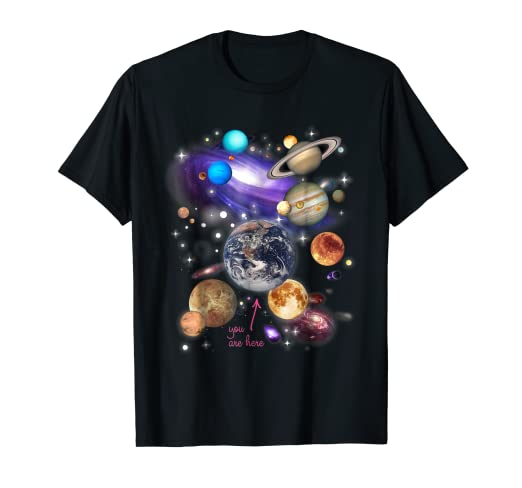 bf73ec0d Amazon.com: Solar System Planets T-shirt: Clothing