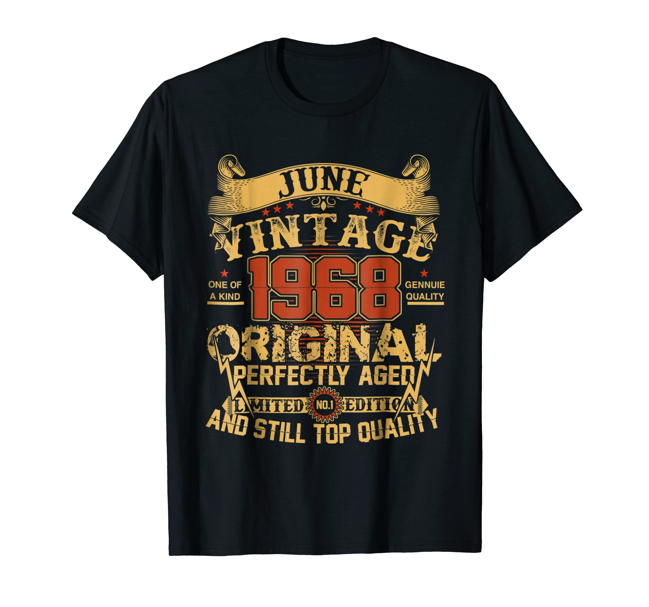 Vintage For June 1968 50th Years Old 50 Birthday Shirt