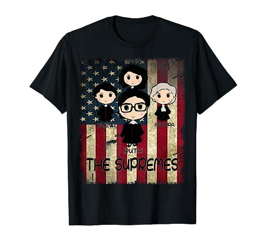 Amazon.com  THE SUPREMES Supreme Court Justices RBG vintage USA T ... c3e8623da2
