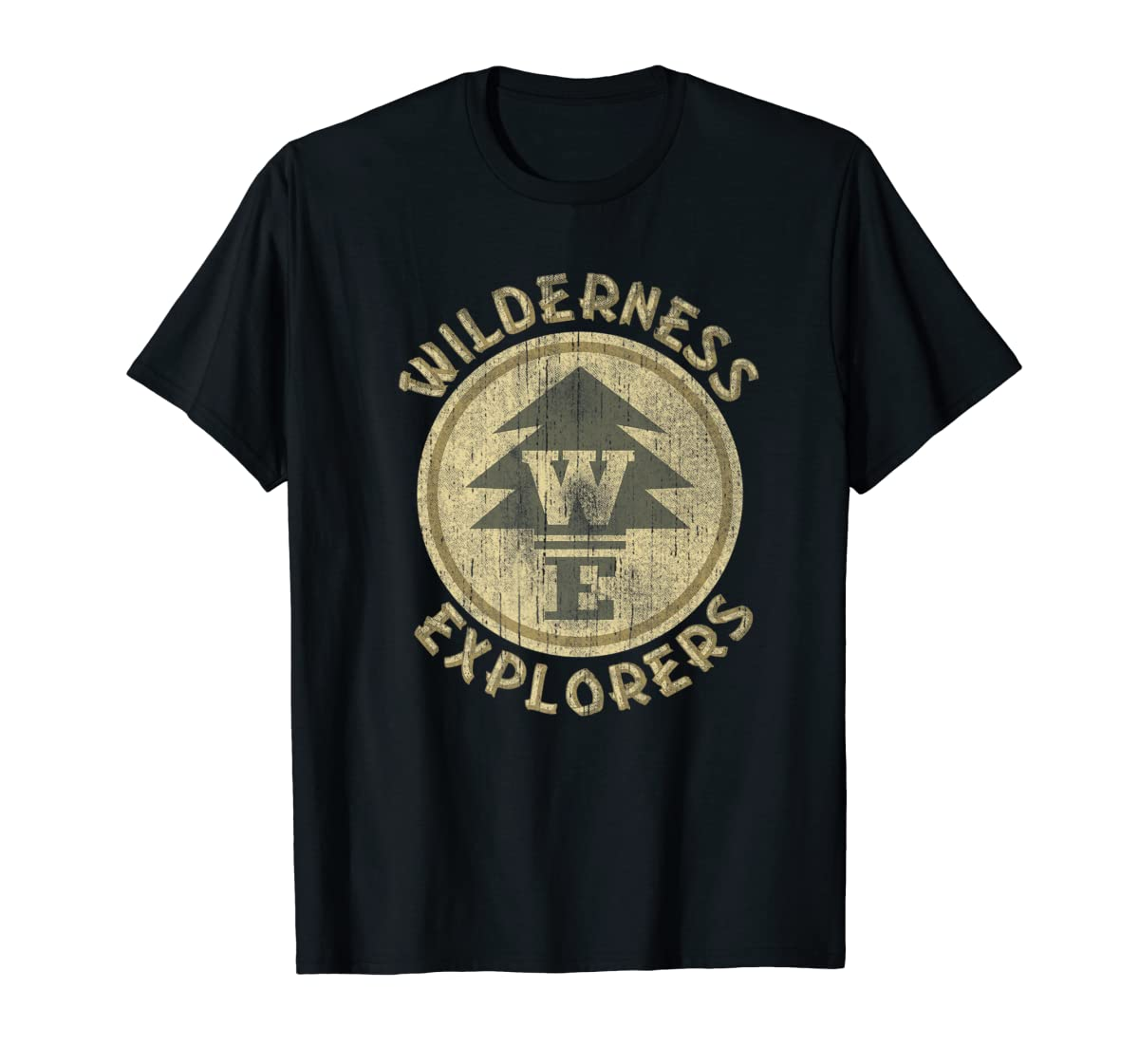 Disney Pixar Up Wilderness Explorer Badge Premium T-Shirt-Men's T-Shirt-Black