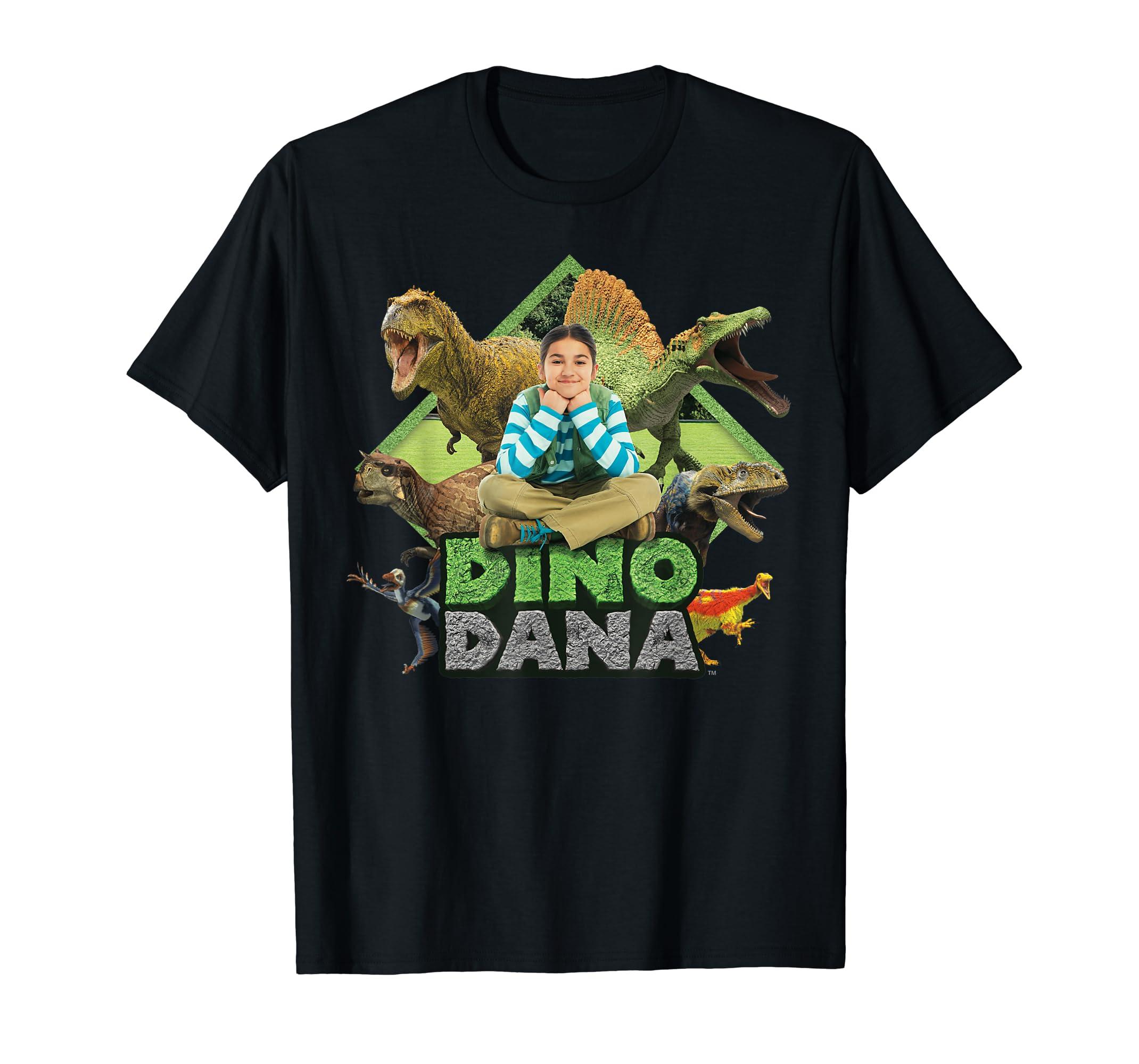 Dino Dana: Real Dinosaurs Shirt-Men's T-Shirt-Black