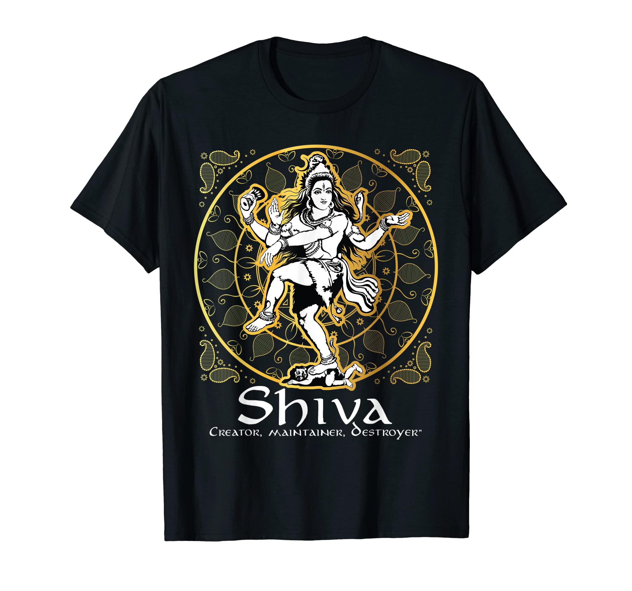 addcd0ea Amazon.com: Lord Shiva T Shirt | Hinduism Gift | Hindu Gods & Deities:  Clothing