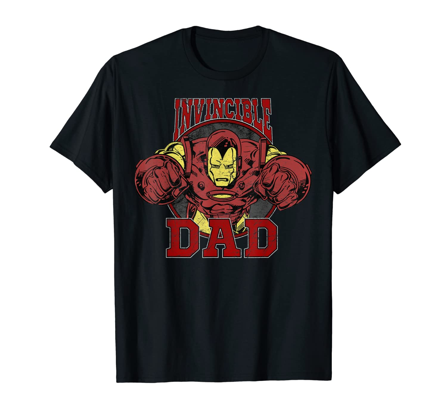 037d3882 Amazon.com: Marvel Iron Man Father's Day Invincible Dad Graphic T-Shirt:  Clothing