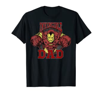 d30528db Image Unavailable. Image not available for. Color: Marvel Iron Man Father's  Day Invincible Dad Graphic T-Shirt