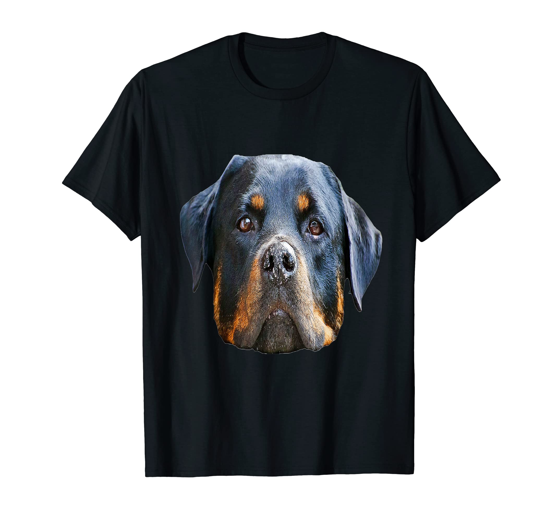 T-shirt with a picture of a Rottweiler-Men's T-Shirt-Black