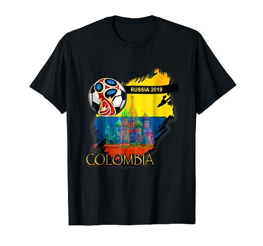 Russia 2018 colombia/ t-shirt- camiseta fotboll / Mundial