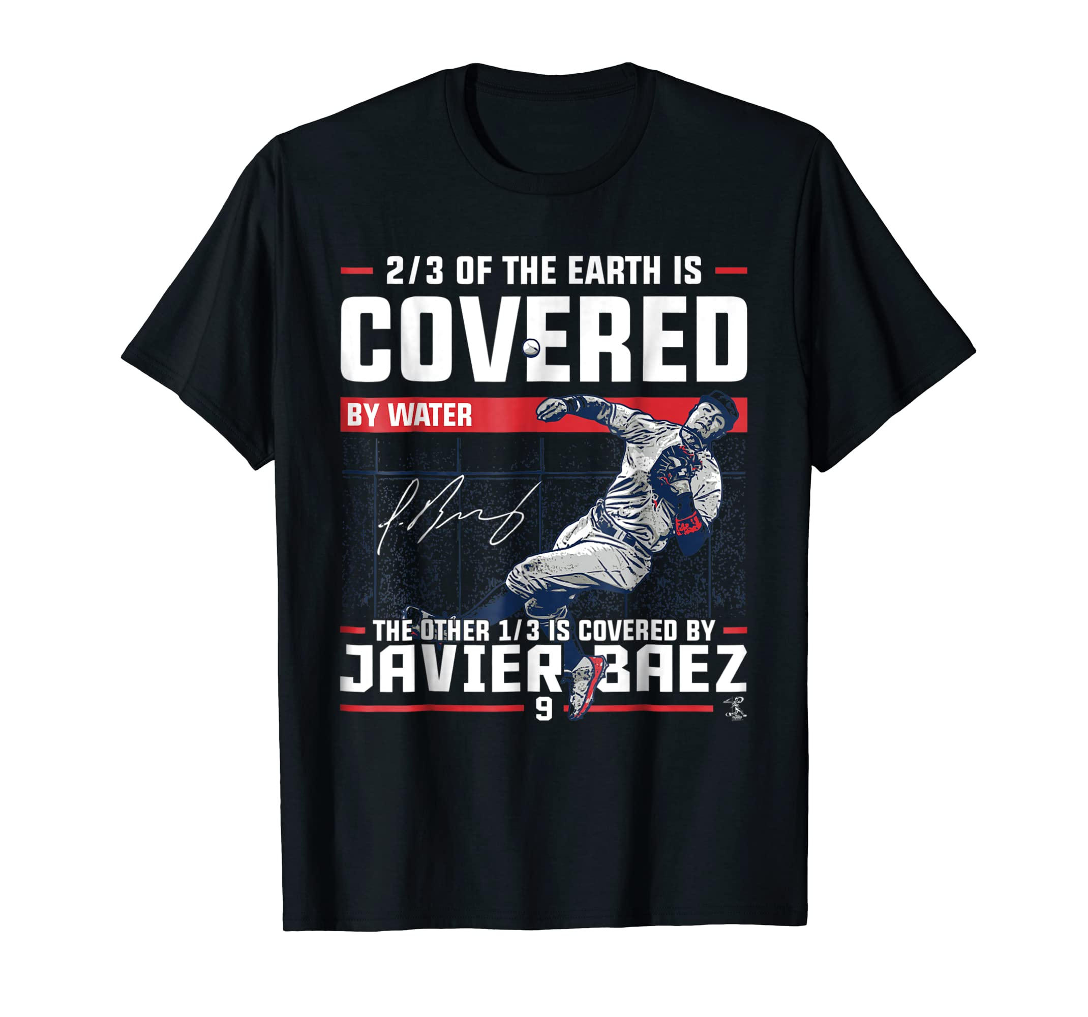 Javier Baez Covered By T-Shirt - Apparel-Men's T-Shirt-Black