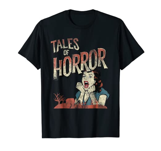 5cfeb0a5d715 Image Unavailable. Image not available for. Color: Vintage Horror Movie  Poster Shirt Funny Halloween Shirt