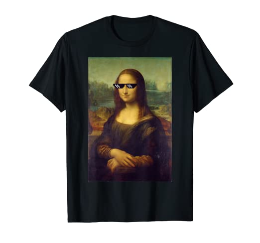 c152f229b88 Image Unavailable. Image not available for. Color  Funny Mona Lisa Meme  Sunglasses ...