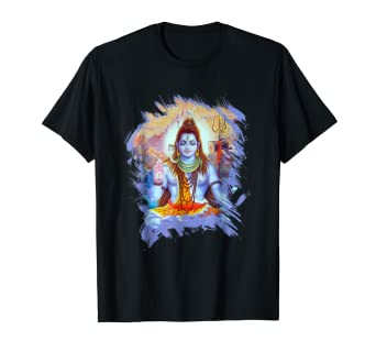 3dd2926d Image Unavailable. Image not available for. Color: Shiva Hindu God T-shirt