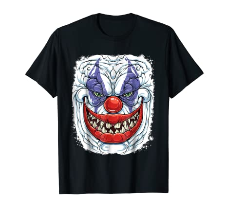 Amazon Com Scary Creepy Clown T Shirt Halloween Kids Men Funny