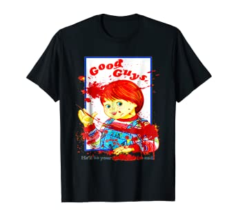 Amazoncom Good Guys Retro S Horror Movie TShirt Clothing - Good guys clothing