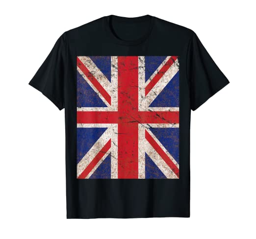 Image Unavailable. Image not available for. Color  Vintage Union Jack Flag T -Shirt 881dba453bd6