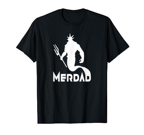 Merdad Father's Day Mermaid Dad Gift T Shirt