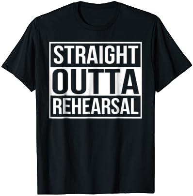 Straight Outta Rehearsal Mens Unisex T-Shirt drama theatre student