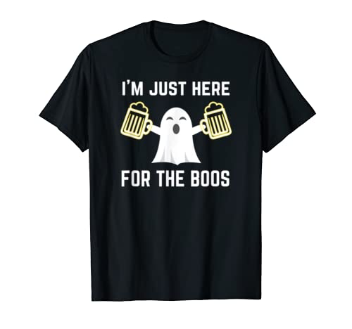 Funny Halloween Ghost Ghoul | I'm Just Here For The Boos T Shirt