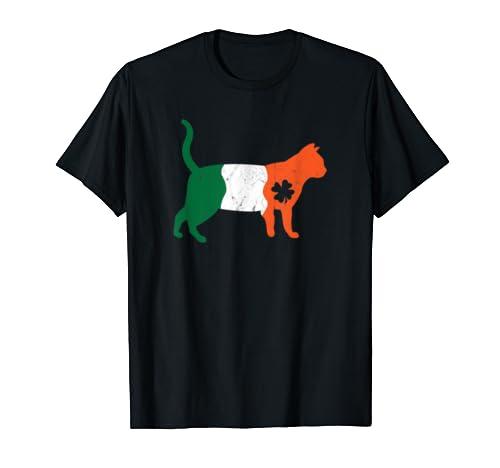 Irish Four Leaf Clover Cat Saint Patrick's Day T Shirt
