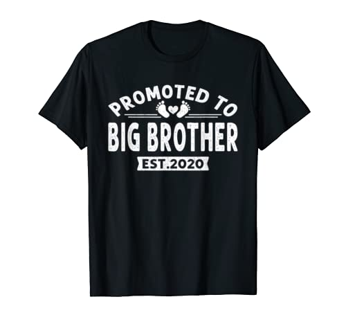 Promoted To Big Brother Est 2020 New Father's Day Gift Shirt T Shirt