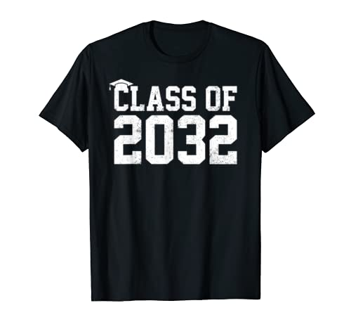 Class Of 2032 Grow With Me Graduation First Day Of School T Shirt
