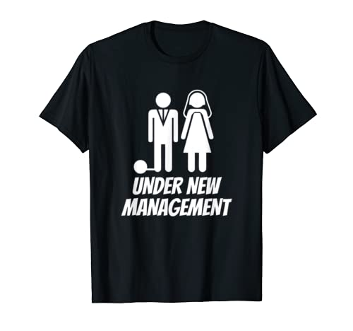 Mens Funny Just Married T Shirt, Fun Newlywed Gag Gifts For Men