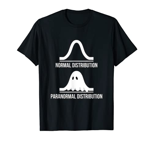 Halloween   Normal Distribution Paranormal Funny Math  T Shirt