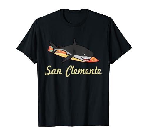 San Clemente California Beach Souvenir Graphic Surf Tee Gift T Shirt