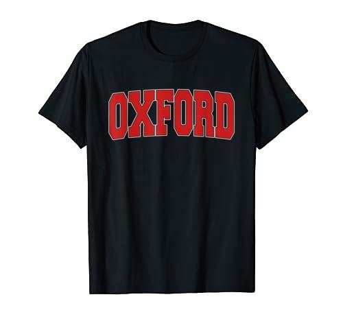 Oxford United Kingdom Varsity Style Vintage Retro Uk Sports T Shirt