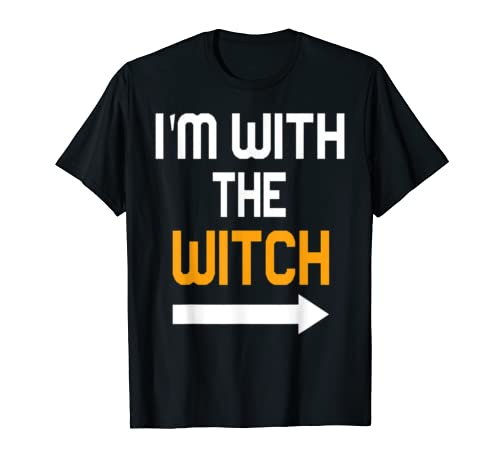 I'm With The Witch Halloween Couple Costume Gift Men T Shirt