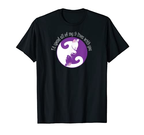 I'd spend all my 9 lives with you Valentines Gift Tshirt