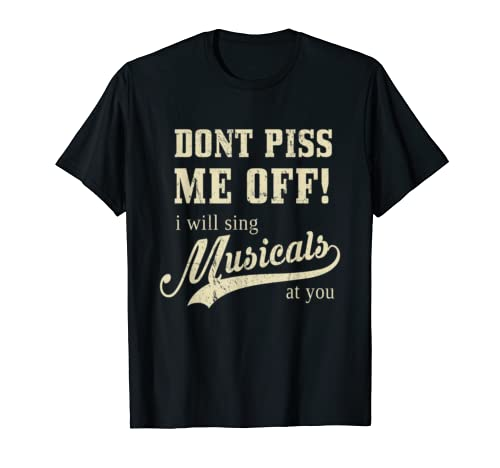 Funny BROADWAY MUSICALS Shows Gift I Theatre Nerd T-Shirt