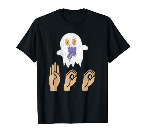 Asl Boo Halloween Shirt, Ghost Boo, Sign Language Gifts
