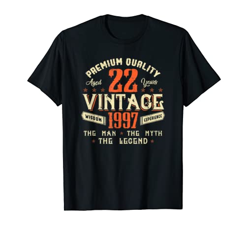 Legends Born In 1997 Aged 22 Years Old Awesome Birthday 22nd T Shirt
