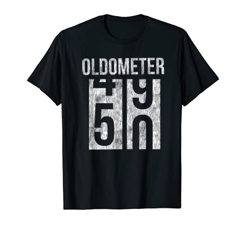 50th Birthday Gift Shirt Oldometer 50 T Shirt T Shirt