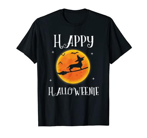 Dachshund Halloween  Funny Happy Halloweenie Dog Lover T Shirt