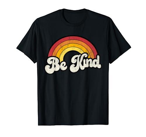 Be Kind Anti Bullying Inspirational Kindness Retro Vintage T Shirt