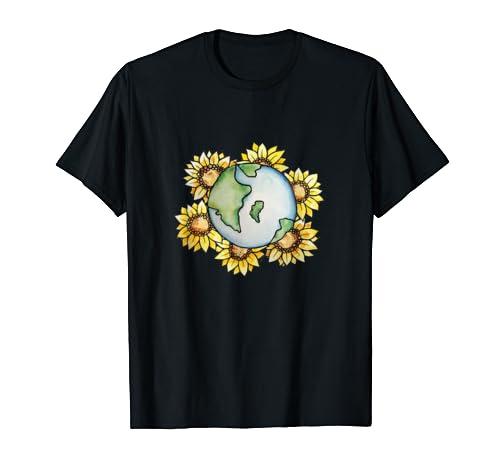 Sunflower Earth Day Art Climate Strike Art Climate  T Shirt